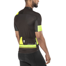 Sportful Gruppetto Pro Team Jersey Men black/green fluo/yellow fluo